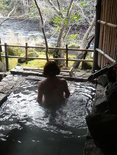 snow and hot springs, ryokan on Kyushu Island