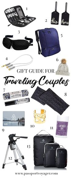 The Ultimate Holiday Gift Guide for Traveling Couples - Looking for some perfect gifts for traveling couples? Check out this in-depth 2017 gift guide featuring unique travel-friendly ideas any couple will enjoy! gift for travelers Holiday Gift Guide, Holiday Gifts, Budget Travel, Travel Ideas, Travel Hacks, Travel Advice, Travel Essentials, Travel Gifts, Travel Souvenirs