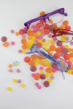 Candy colored prescription glasses are here with the best glasses selection and service.