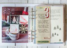 December Daily via A Stitch In Time blog. So pretty, love the polar bear and fake snow shaker pocket!