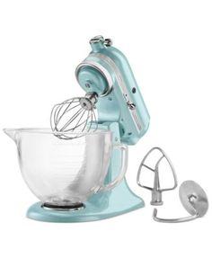 Azure Blue KitchenAid® Artisan® Design Series 5 Quart Tilt-Head Stand Mixer with Glass Bowl - : Target Kitchenaid Artisan, Mixer Accessories, Kitchen Accessories, Head Stand, Diy Kitchen, Kitchen Tools, Kitchen Gadgets, Kitchen Ideas, Baking Gadgets