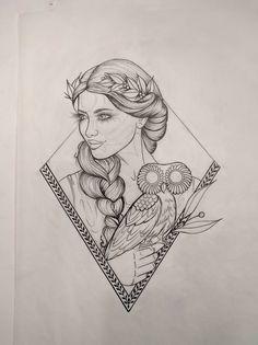 Athena tattoo by Jeana's Studio, YEG