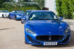 A fleet of GranTurismos and GranCabrios chauffeured #Maserati guests during the weekend.