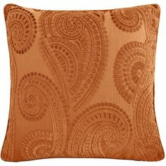 Baroque Paisley Pillow - Clay