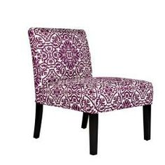 @Overstock.com - angelo:HOME Bradstreet Modern Damask Provence Purple Upholstered Armless Chair - Add an elegantly bold look to any room with this fashionable armless chair. It features an eye-catching demask print in bright purple for a look that is sure to create a unique focal point when combined with virtually any home decor.  http://www.overstock.com/Home-Garden/angelo-HOME-Bradstreet-Modern-Damask-Provence-Purple-Upholstered-Armless-Chair/5980624/product.html?CID=214117 $130.49