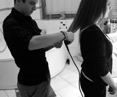 I'll teach you how to straighten hair so i don't have to do it everyday.  awww <3