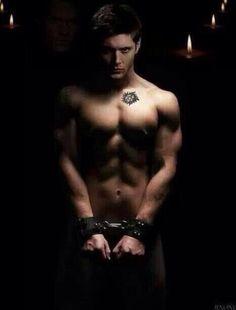 Dean in chains.
