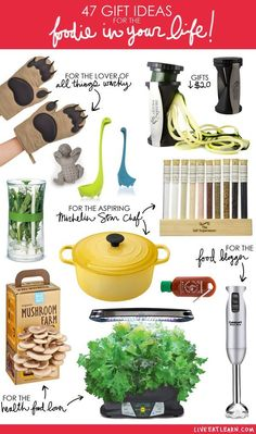Health food lovers, aspiring chefs, food bloggers...gifts for every food lover!