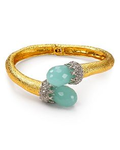 Alexis Bittar Siyabona Gold Peruvian Chalcedony Briolette Hinge Bracelet   Bloomingdale's