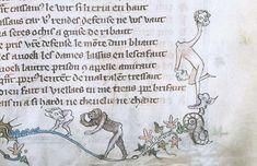 Des enluminures étranges au Moyen Age marginalia enluminure etrange moyen age 05 peinture 2 histoire design bonus art