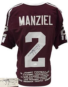 Johnny Manziel Signed Custom College Style Stat Jersey JSA     You can get  additional details at the image link. Best Seller 7008e5665