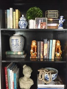 My Simple Bookshelf (Re)Styling - Emily A. Clark - My Simple Bookshelf (Re)Styling bookshelf styling - Decor, Styling Shelves, Bookshelf Design, Bookcase Decor, Bookshelves, Decorating Bookshelves, Simple Bookshelf, Home Decor Accessories, Decorating Shelves