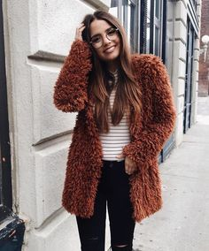 fluffy coat | tesschristinexo