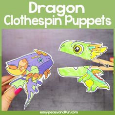Dragon Puppet Printable – Easy Peasy and Fun Membership Firefighter Mask, Shark Puppet, Dragon Puppet, Fairy Tales Unit, Mask Template, Wooden Clothespins, Easy Peasy, All You Need Is, Puppets