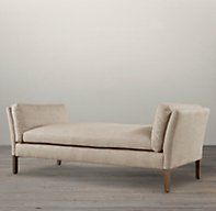 6' Sorensen Upholstered Bench in Sand Belgian Linen | Ottomans | Restoration Hardware