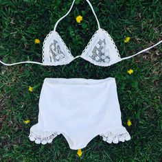 Kind of, sort of, LOVING this two piece undergarment crochet set.