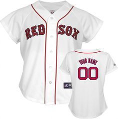82ee7220255 Boston Red Sox -Personalized with Your Name- Women s MLB Replica Jersey  Baseball Jerseys