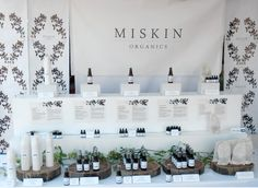 Miskin Organic Skin Care Product Display