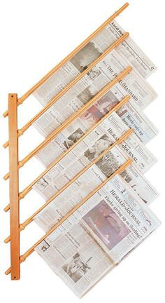 newspaper display rods - Google Search