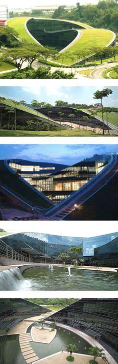 School of Art, Design & Media, Nanyang Technological University, Singapore - green architecture