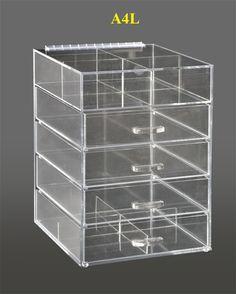 Clear Makeup Organizer Acrylic Drawer Vanity Cosmetics Storage