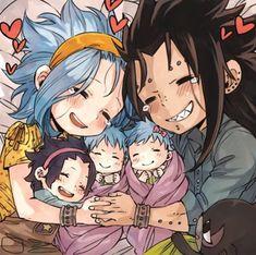 Gajeel x Levy / Fairy Tail Gale Fairy Tail, Fairy Tail Amour, Fairy Tail Kids, Anime Fairy Tail, Fairy Tail Natsu And Lucy, Fairy Tail Family, Fairy Tail Art, Fairy Tail Couples, Fairy Tales
