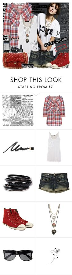 """Alexa Chung"" by fashionqueengirl ❤ liked on Polyvore featuring Aubin & Wills, Benefit, Kain, Chanel, Converse, Betsey Johnson, H&M, women's clothing, women's fashion and women"