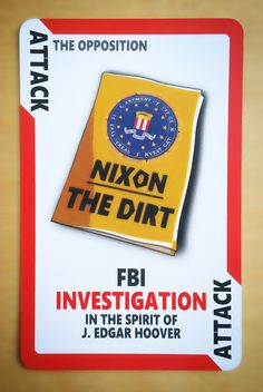 Cartoon Card Game Card from Political Suicide The Game! Funny Nixon FBI https://www.etsy.com/uk/listing/465469917/political-suicide-the-card-game