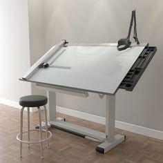 Drafting table set model - drafting table pro set by ditodito designs Art Studio Room, Art Studio Design, Architect Table, Architect Logo, Architect House, Drawing Desk, Drawing Board, Art Desk, Interior Styling
