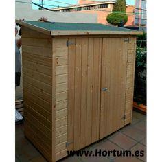 Armario de exterior, practico y fácil de montar. Ideal para guardar bicicletas, lavadora... Disponible en: http://hortum.es/armarios-de-jardin-/20-armario-madera-albecove.html