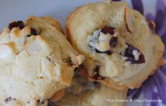 Day 55: Cranberry and White Chocolate Chip Cookies with Almonds