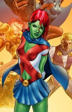 After reading that issue of Teen Titans, Miss Martian has been on my mind a lot. What is it with green girls that attract a guy. Miss Mar. Superboy And Miss Martian, The Martian, Teen Titans, Marvel Comics, Cosmic Comics, Marvel Dc, Hq Dc, Fanart, Comic Art Community