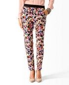 Product Name:High-Rise Floral Print Pants, Category:NEW ARRIVALS, Price:19.80