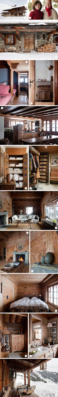 rustic and cozy winter cabin