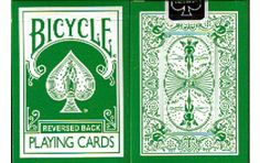 Bicycle Green reverse back Playing Cards. $8.99. #poker #playingcards #games