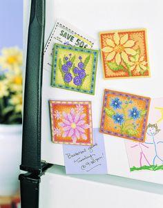 Kitchen Essentials Cross Stitch Magnets for the Kitchen