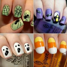 Halloween nails, it is NEVER too early to plan for halloween. - Halloween nails, it is NEVER too early to plan for halloween. Halloween Designs, Halloween Nail Art, Halloween Ideas, Fancy Nails, Love Nails, My Nails, Fingernail Designs, Nail Art Designs, Dark Red Nails
