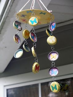 Sakura Hobby Crafts: Bottle Cap Wind Chimes