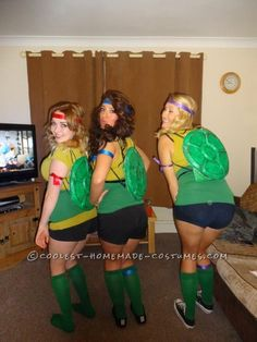 Awesome Homemade Teenage Mutant Ninja Turtles Costumes Diy Ninja Turtle  Costume, Turtle Costumes, Ninja