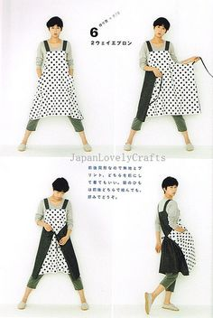 Apron & Apron Dress by Yoshiko Tsukiori - Straight Stitch Sewing - Japanese Pattern Book for Women Clothing - B1299-15 | Flickr - Photo Shar...