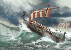 Destruction of Viking Fleet by jasonjuta on DeviantArt