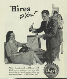 1946 Hires Root Beer ad