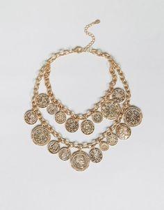 ALDO Multirow Coin Necklace