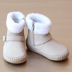 Angel Baby Girls Short Leather Boot – Petit Foot