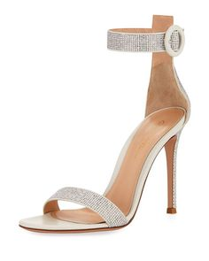 X3Y8F Gianvito Rossi Studded Leather Ankle-Strap Sandal