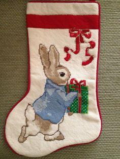 Beatrix Potter, Peter Rabbit, Christmas Stocking for my little girl!