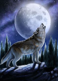 Wolves Art | howling wolf by smorrisonart digital art drawings paintings animals ...