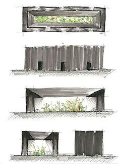 Serpentine Pavilion - Peter Zumthor, sketch by the vuvo bandit