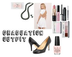 """Graduation Outfit"" by megana7398 on Polyvore featuring Tobi, Kate Spade, Mikimoto, Full Tilt, OPI, Bobbi Brown Cosmetics and Clinique"