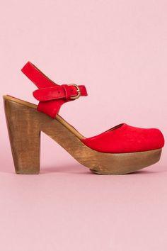 Oh crap: RED VELVET Rachel Comey clog heels. Be still my heart.